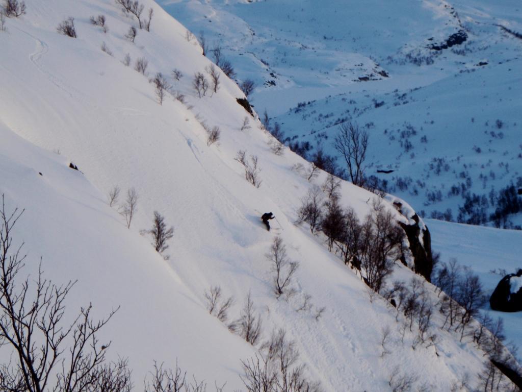 foto: Knut Festervoll, på bilde: Kjetil Rødland øverst i Hunnedalen